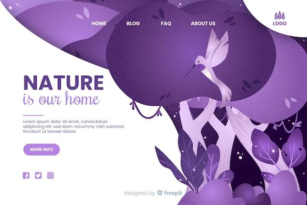 La nature est notre modèle web d'accueil