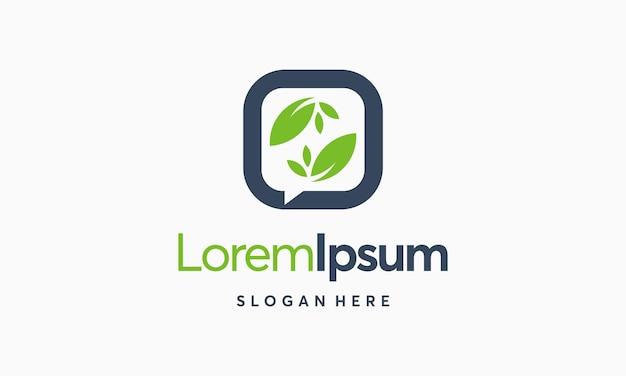 Nature forum logo designs vecteur, nature discussion consult logo