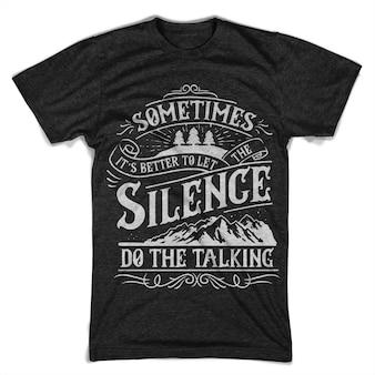 La nature parle du silence.