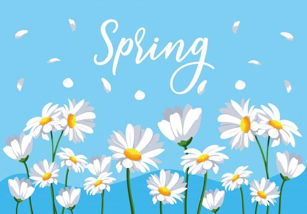 Nature de scène de fleurs de printemps
