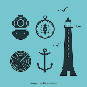 Nautic icon set