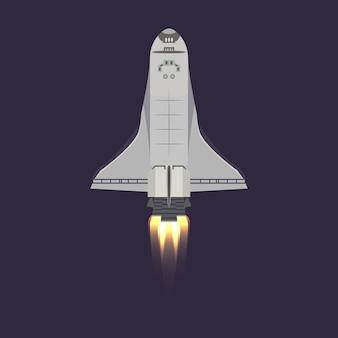 Navette spatiale dans l'icône de l'univers
