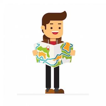 Navigation sur carte locale