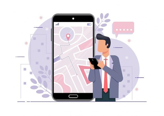 Navigation sur téléphone mobile