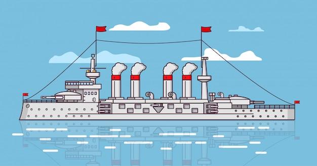 Navire de bataille à vapeur