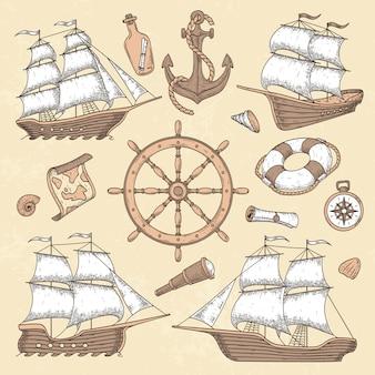 Navires de mer vintage