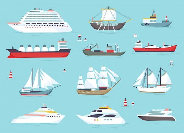 Navires en mer