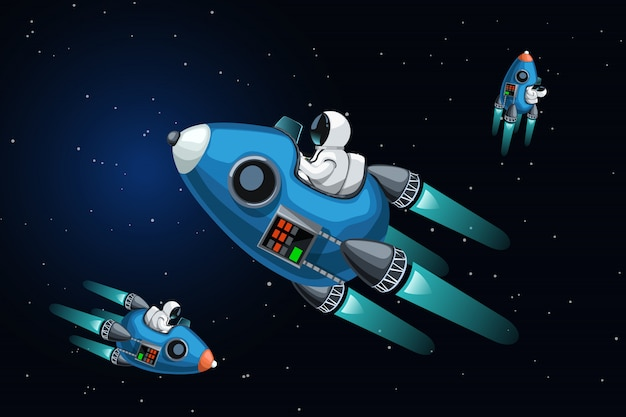 Navires spatiaux dans l'espace lointain