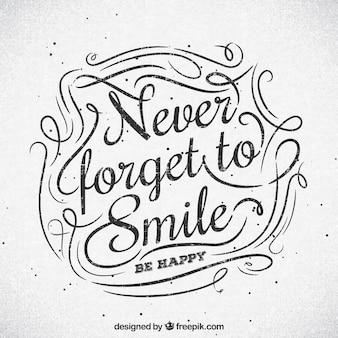 Ne jamais oublier de sourire des antécédents