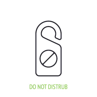 Ne pas déranger l'icône de contour de signe illustration vectorielle signe de porte d'hôtel symbole de l'hôtel et du tourisme