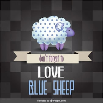 Ne pas oublier d'aimer mouton bleu