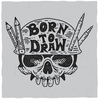Né pour dessiner poster