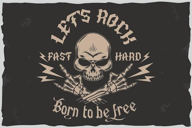 Né pour être libre - illustration vectorielle de tshirt