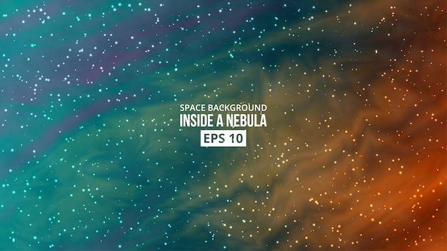 Nébuleuse avec fond d'étoiles