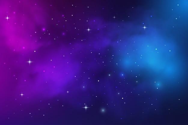 Nébuleuse de la galaxie de l'espace, poussière d'étoile et ciel étoilé de l'univers