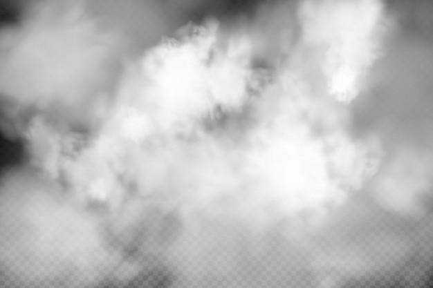 Nébulosité blanche brouillard ou fumée sur fond quadrillé foncé