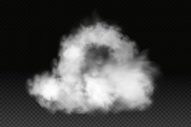 Nébulosité, brouillard ou fumée de vecteur blanc.