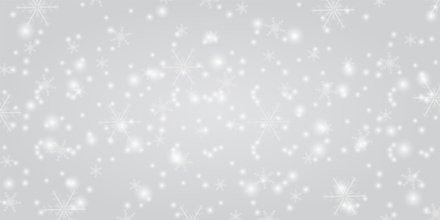 Neige brillante avec fond de noël