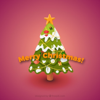 Neige carte de Noël