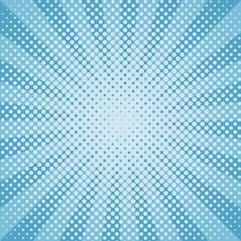 Neige d'hiver ronde motif bleu demi-teinte sunburst
