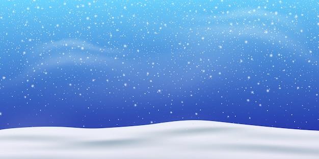 Neige. tempête de neige hiver noël blizzard. chutes de neige, flocons de neige