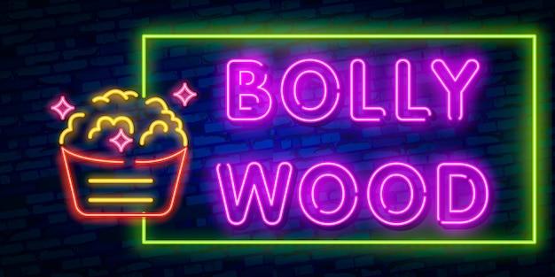 Néon brillant du cinéma indien rétro