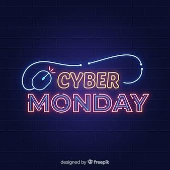 Néon coloré cyber lundi