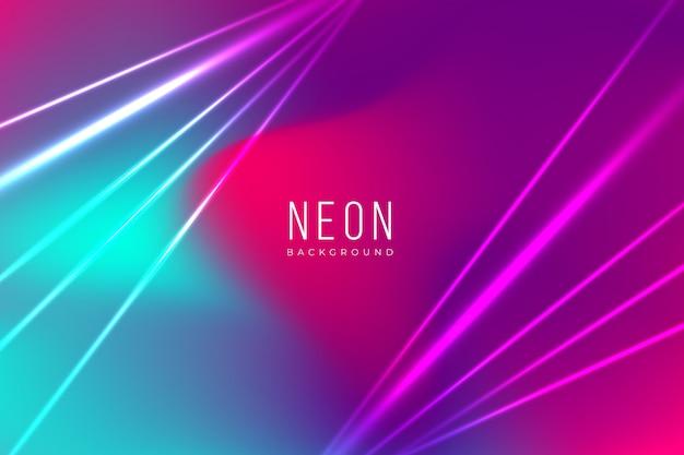 Néon coloré avec des effets de lumière