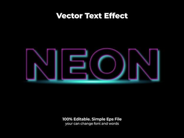 Néon à effet de texte