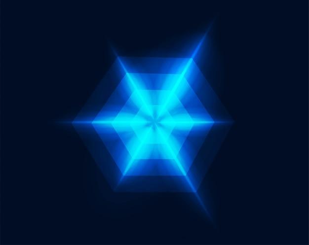 Néon géométrique fantaisie lumière étoilée rougeoyante motif abstrait illustration de forme vectorielle