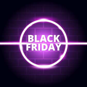 Neon glow black friday fond