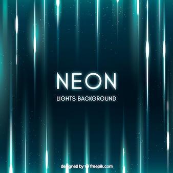 Neon lights fond dans le style abstrait