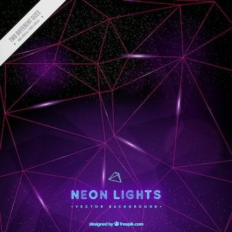 Neon lights fond avec des formes géométriques