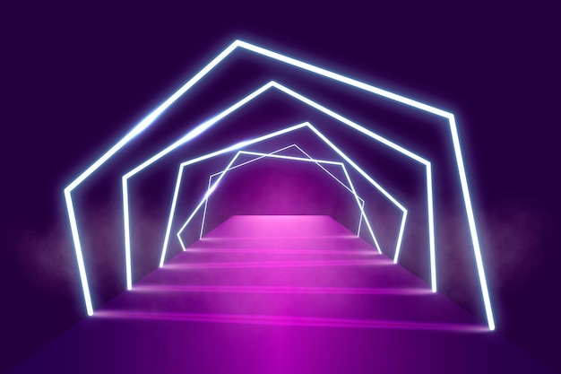 Neon lights stage background