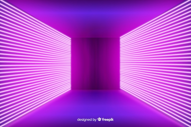 Neon pink lights stage background