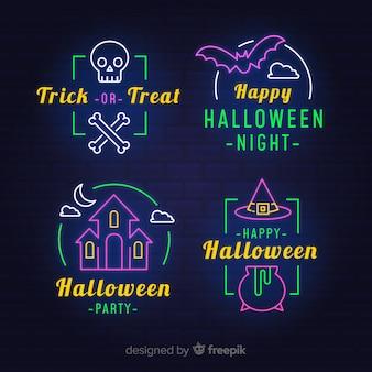 Néon, signes, pour, fête halloween