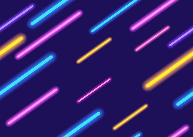 Néons colorés abstrait, modèle sans couture au format vectoriel eps10