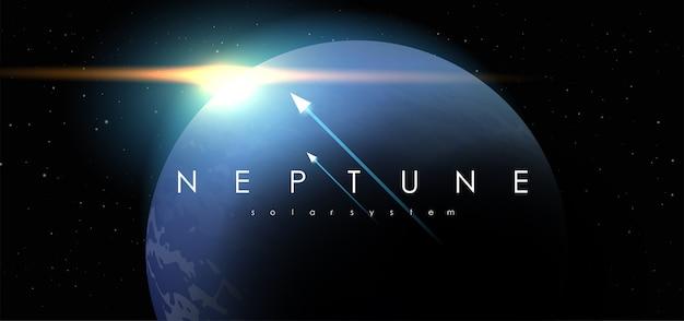 Neptune sur fond de l'espace