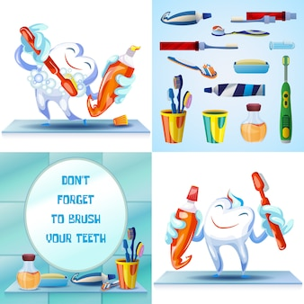 Nettoyage brosse à dents