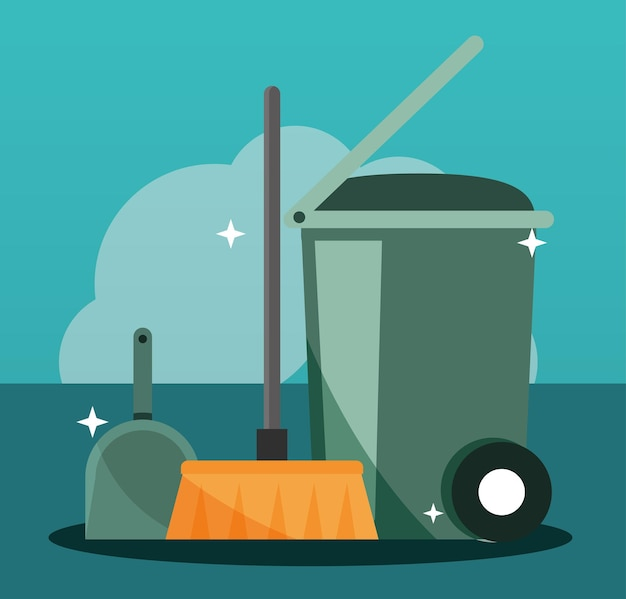 Nettoyage des déchets d'équipement