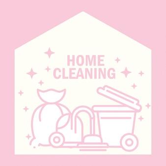 Nettoyage à domicile avec protection de l'équipement de la machine à vide
