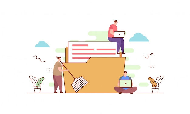 Nettoyage de données en style plat