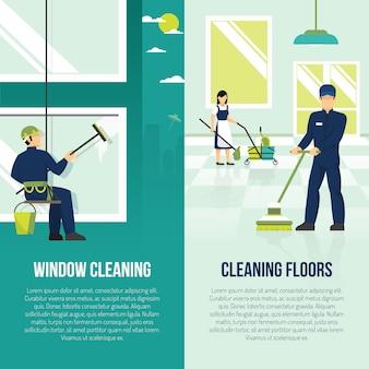 Nettoyage industriel 2 bannières plates