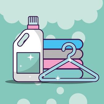 Nettoyage de linge lié