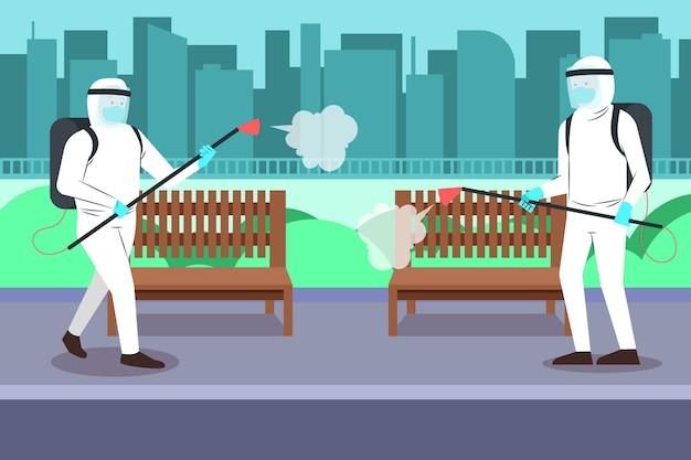 Nettoyage des travailleurs