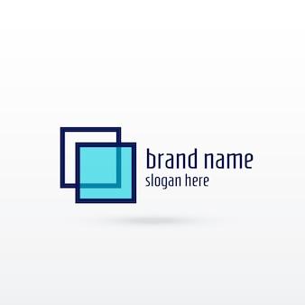 Nettoyer la conception de concept de logo sqaure pour votre marque