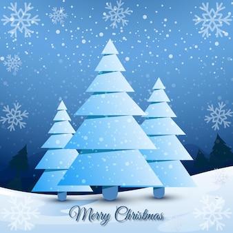 Nettoyer le fond de joyeux noël et bonne année avec le vecteur d'arbre de noël