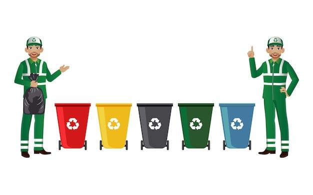 Nettoyeur de rue avec différents bacs