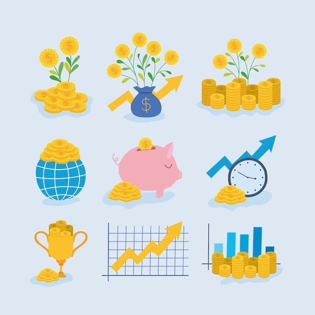 Neuf éléments d'investissement