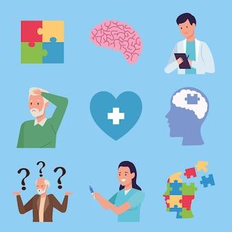 Neuf éléments de la maladie d'alzheimer